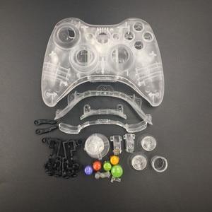 Image 2 - Przezroczysty biały/czysty, niebieski kolor kontroler bezprzewodowy obudowa Shell dla konsoli Xbox 360 pokrywa do obudowy w celu uzyskania z zestawem przycisków
