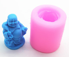 Wholesale/retail,free shipping ,Maitreya Buddha clay pottery mould  silicone chocolate mold soap Mold