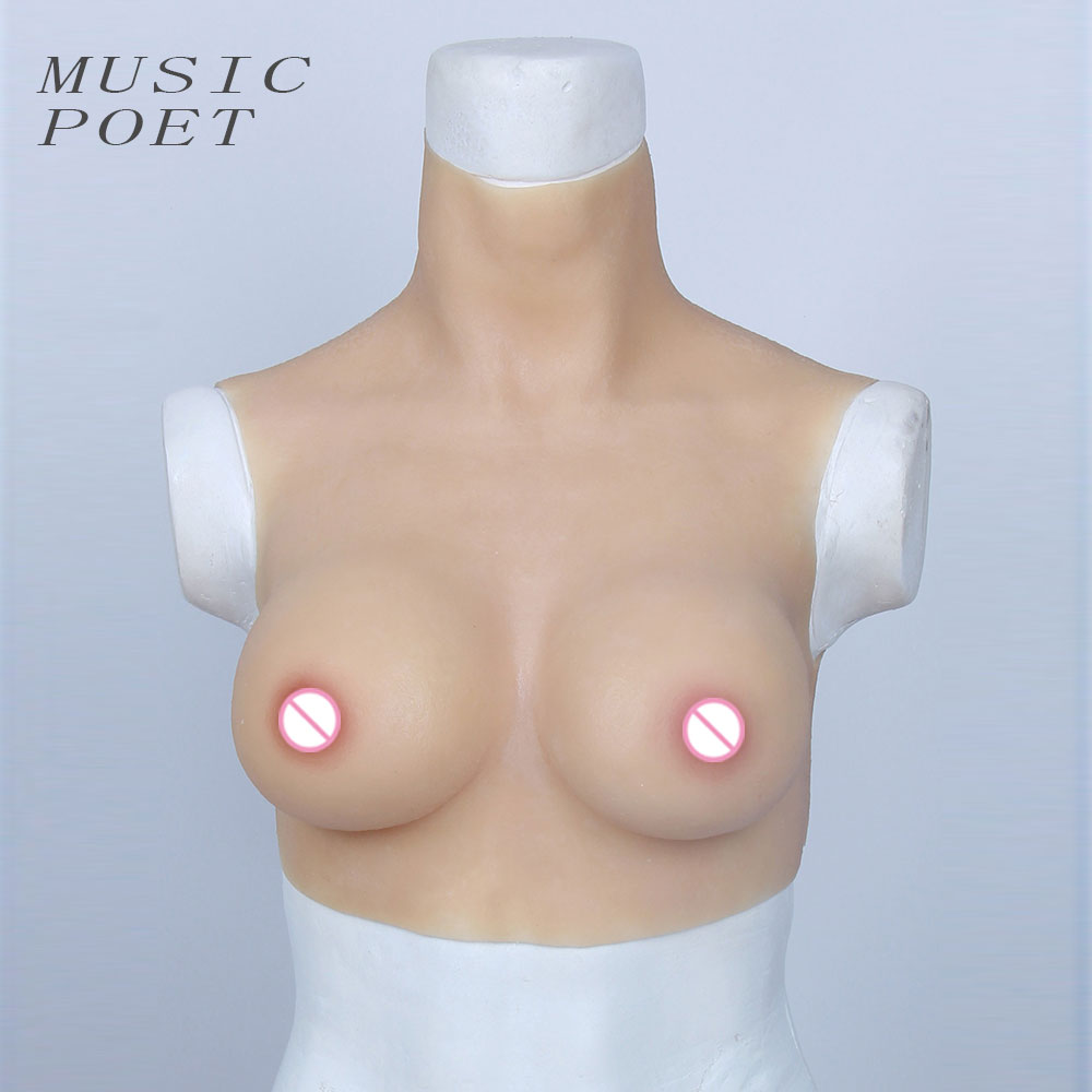 Cross-dressing is a breast form D cup 1500 grams short breast silicone breast femskin