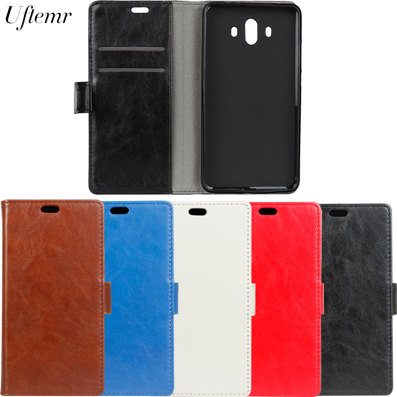 Original Uftemr Luxury Business Leather Case For Huawei Mate 10 Crazy House Skin Flip Co ...