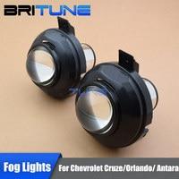 HID Bi xenon Fog Lights Lenses Accessory For Chevrolet Cruze/Orlando/Trax/Opel Antara Cars DIY Tuning Style Use H11 Xenon Bulbs