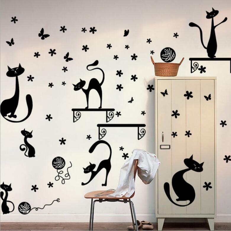 смешные рисунки на стену в комнату