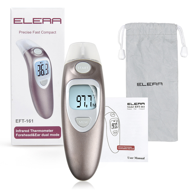 ELERA Baby Contact Infrared Forehead Thermometer Termometro Digital Body Milk Thermometer Fever Multi-function Temperature Meter original xiaomi mijia ihealth thermometer accurate digital fever infrared clinical thermometer non contact measurement led shown