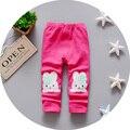 2016 Otoño Nueva ropa de Los Niños niñas pantalones de algodón con estampado de puntos polainas del bebé B034