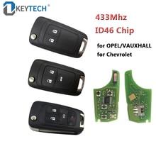 OkeyTech удаленный ключевой 433 МГц ID46 чип 2/3/4 BTN для Chevrolet круиз Малибу Aveo Искра Паруса для OPEL/VAUXHALL для Astra J Corsa E