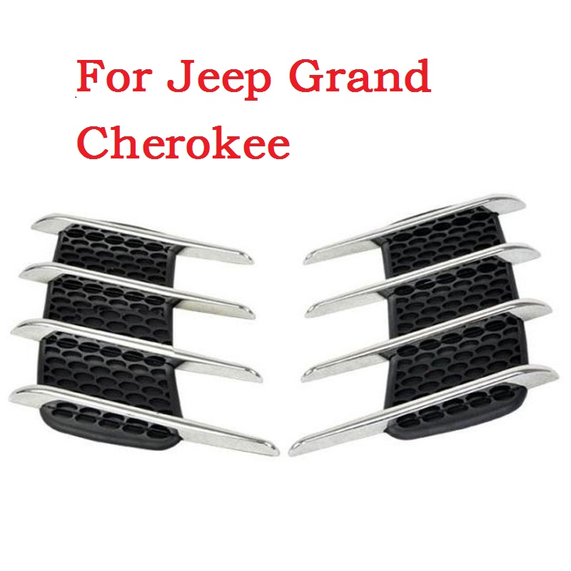 new Car Side Bonnet Air Vent Grill Decoration outlet decorative stickers Euro Cuct Side Door Auto for Jeep Grand Cherokee new 4pcs blade side windows deflectors door sun visor shield for citroen c4 grand picasso 7 seats 2017