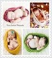 Nova Venda Quente Tigela Bebê Recém-nascidos de Malha Saco De Dormir Pod Cocoon Fotografia Props Handmade Crochet Toddler Costume Outfit