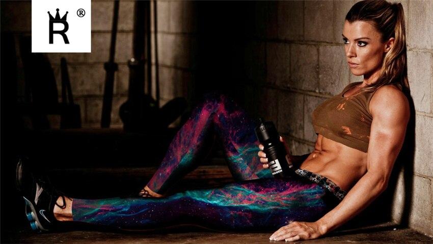 Digital Dicetak Wanita Legging Wanita Leggins Galaxy Splatter lukisan - Pakaian Wanita - Foto 4