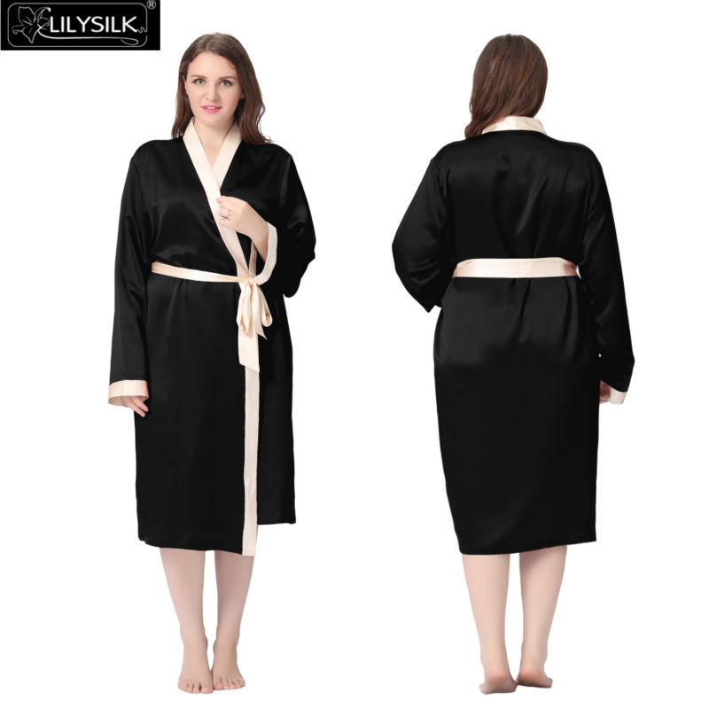 1000-black-22-momme-reverse-trim-mid-length-silk-robe-plus-size-01