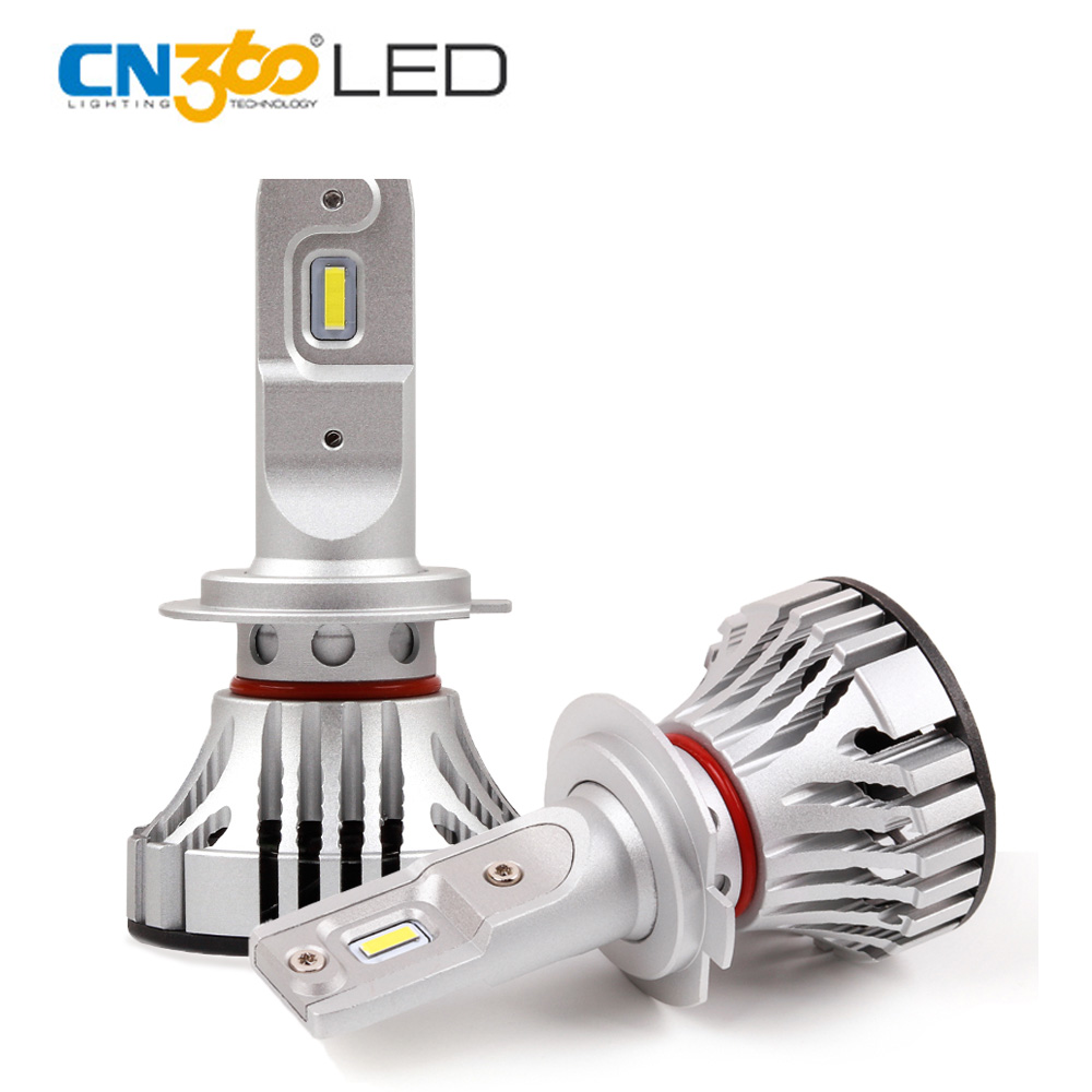 CN360 2 шт. H7 светодио дный света автомобиля супер яркий 12000 люмен 12 В 24 В светодио дный Авто лампочки 72 Вт фары белый 6500 К Вентилятор охлаждения