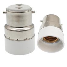 1pc B22 do E14 podstawa lampy adapter Bayonet gniazdo elektryczne adapter bagnet podstawa do kandelabrów E14 oprawka konwerter CE Rohs tanie tanio E-SIMPO Oprawka converter B22 to E14 Lighting Lamp base converter B22 to E14 adapter