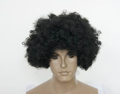Black Afro Hair Wigs Mens Stylish POP Design Hair Wig Coolest Fashion Free  Shipping Wholesale 67d05a3ee7ae