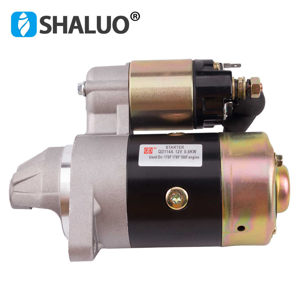 QD114A Diesel Engine Motor Starter 12V 0.8KW Copper Used On 170F 178F 186F Engine Starter Motor Generator Parts