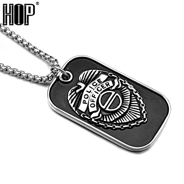 Hip america police officer men necklaces 316l stanless steel punk hip america police officer men necklaces 316l stanless steel punk rock pendants necklaces for men jewelry aloadofball Image collections