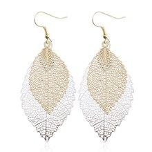 Bohemian Leaf Dangle Earrings