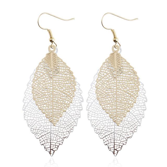 Leave design earrings (5 colours)