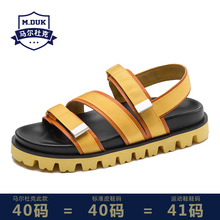 Summer genuine cowhide mens sandals fashionable personality beach shoes casual Roman breathable gladiator