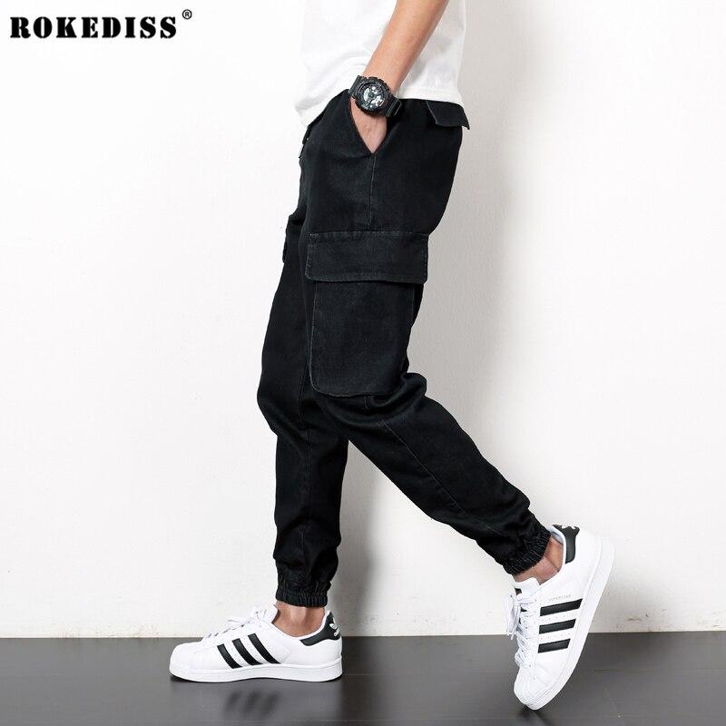 Mens Harem Pants Black Jeans For Men Hip Hop Baggy Street Clothes Men s Denim Cargo