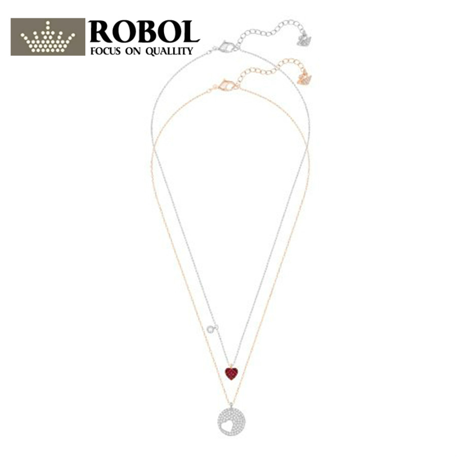 2018 SWA 100% 925 Sterling Silver Original Copy Has Logo Double Necklace Ladies Beaded Jewelry Free Mail