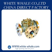 Manufacture Flange Connecting L type 11/4 inch Stainless Steel 304 3 way ball valve dn50