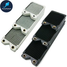 120/240/360/480mm*27mm Full Copper Radiator Computer Water Cooled Row black/white Heat Exchanger for PC water cooling