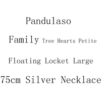 Pandulaso Floating Locket Large Size Family Tree Hearts Petite Necklace Pendant Sterling Silver Jewelry For Woman