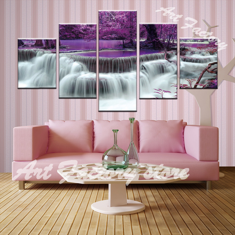 Buy designs waterfall picture canvas oil for International home decor stores