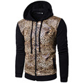 Hoodies Men 2017 Brand Male Long Sleeve Hoodie Leopard Tiger Skin Sweatshirt Mens Cardigan Moletom Masculino Hoodies Tracksuit S