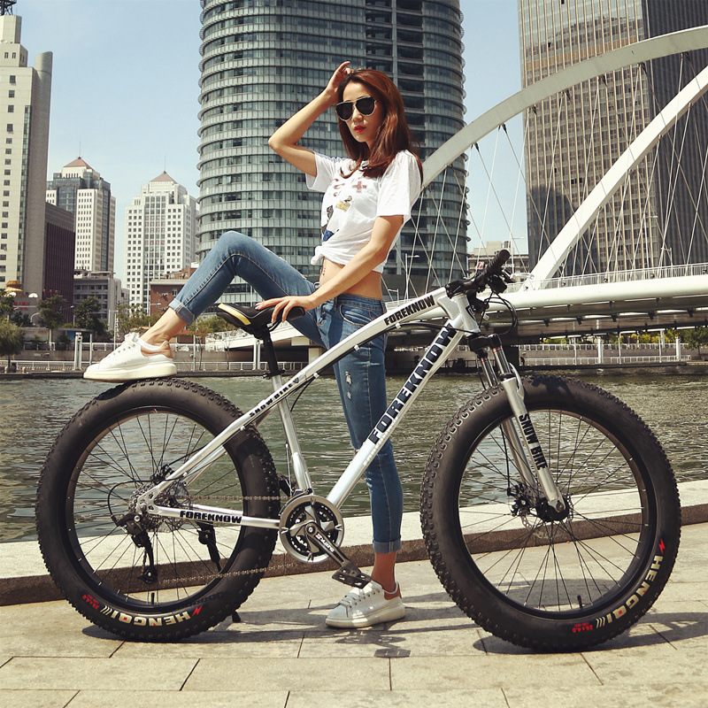 26 Inch 7/21/27speed Cross country Mountain Bike Aluminum Frame Snow Beach 4.0 Oversized Bicycle Tire Dirt Bikes for Men & Women
