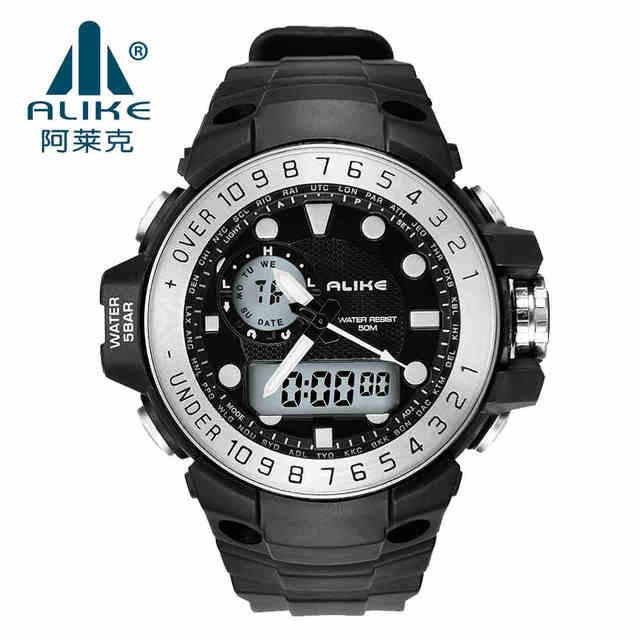 2016 Men LED Digital Watch Alike Multifunction Army Military Dive Sport Watches Waterproof Wristwatch orologio uomo Reloj Hombre