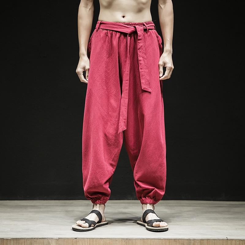 Realistisch Baumwolle Leinen Casual Hosen Männer Lose Pantalettes Neue Mode Harem Hose Herren Frühling Sommer Regelmäßige Hosen Plus 5xl Und Verdauung Hilft