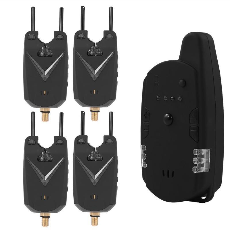 JY-59 étanche sans fil carpe pêche morsure alarme sons et LED alarme indicateur d'alarme électronique illuminé échangeurs
