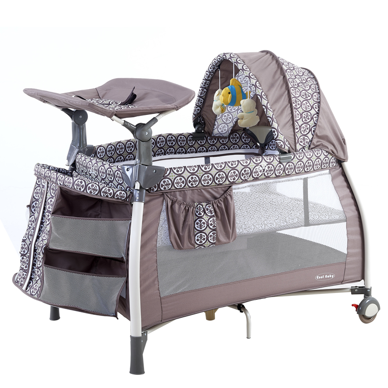 2017 Top Fashion Sale Cribs For Twins Babies Coolbaby Multifunctional Baby  Bed Game Fashion Crib Folding Bb 4 Colors In Stock  In Baby Cribs From  Mother ...