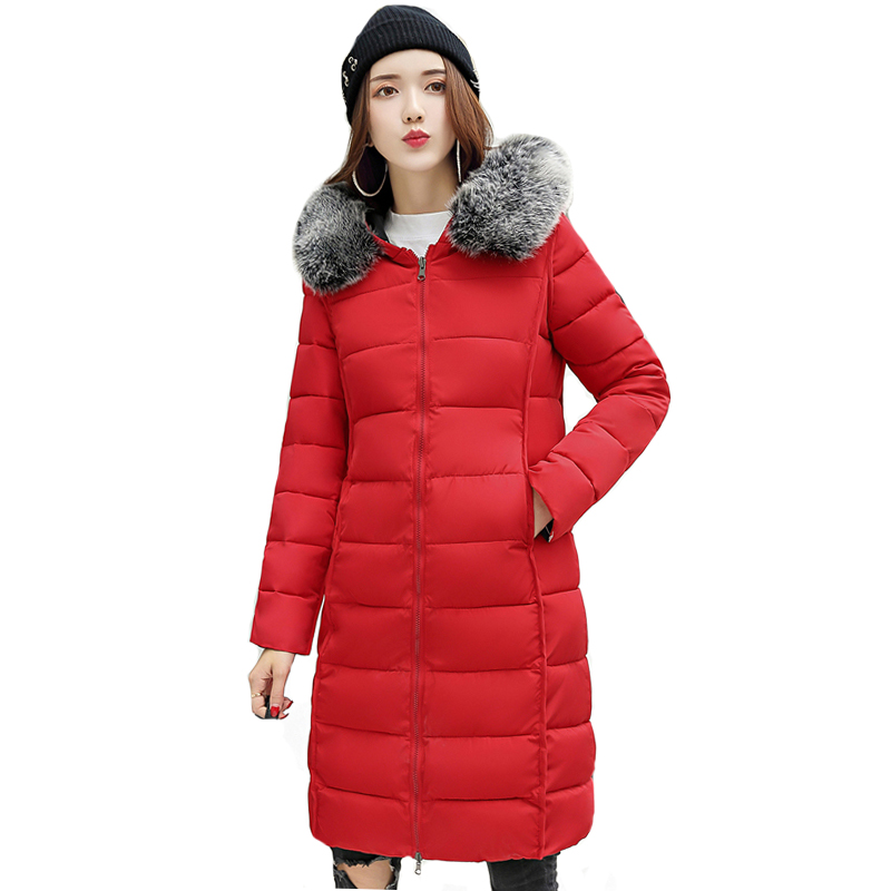 2019 New Arrival Both Two Sides Can Wear Winter Jacket Women Hooded With Fur Winter Jackets Female Outwear Long   Parka   Casaco