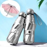 Mini ombrello tascabile a 8 nervature Anti UV Paraguas ombrellone pioggia antivento pieghevole ombrelli portatili per donna uomo bambini