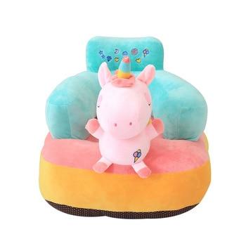 Zitstoel Voor Baby.Leuke Baby Sofa Seat Katoen Cartoon Eenhoorn Voeden Stoel Voor