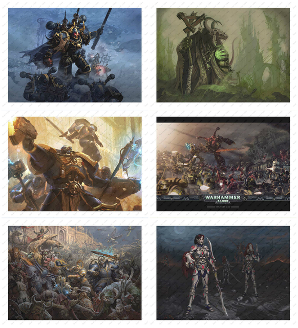 Warhammer White kraft poster  Poster wall sticker Decorative paintings Game Poster