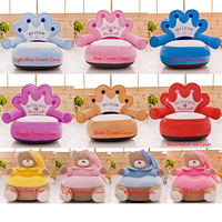 Seat Skin Baby Bear Carrier Toddler Baby Nest Puff Seat Upscale Cartoon Crown Children Seat Sofa