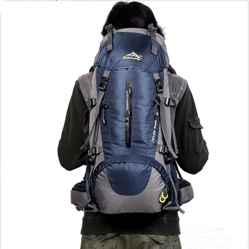 Prix pour 50L Extérieure housse de pluie sac à dos escalade sac à dos sac résistant à L'eau Voyage Chasse Randonnée Trekking Alpinisme Sacs À Dos