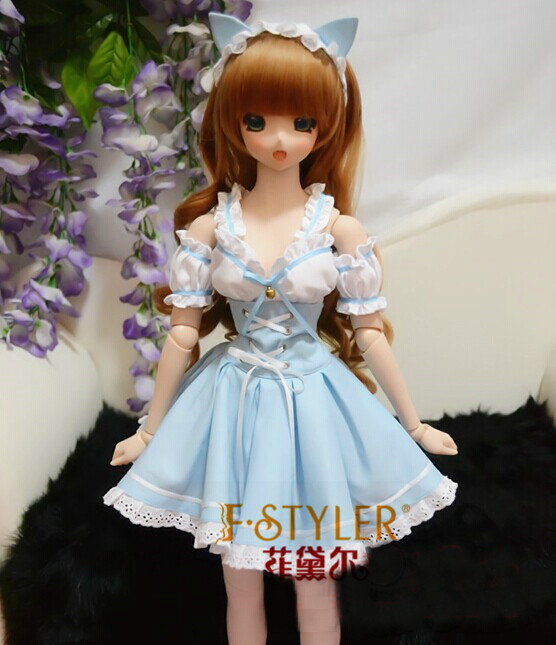 BJD doll clothes SD MSD YOSD Doll clothes Doll dress navy wind college wind dress for 1 3 1 4 bjd sd10 msd bjd sd doll clothes accessories