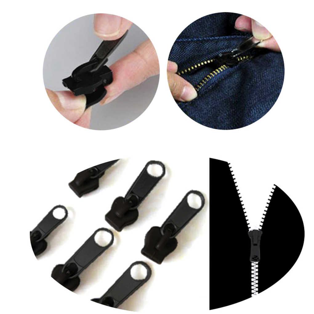 6pcs Universal Instant Fix Zipper Repair Kit Replacement Zip Slider Teeth Zippers 3 Color