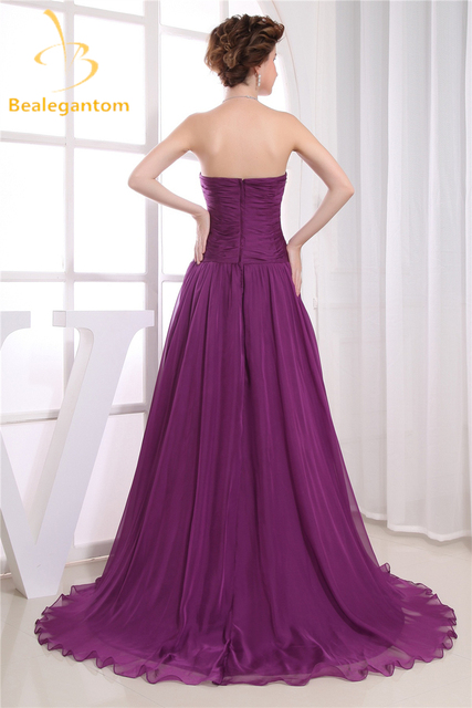 Фото модные фиолетовые вечерние платья трапеции с блестками 2019