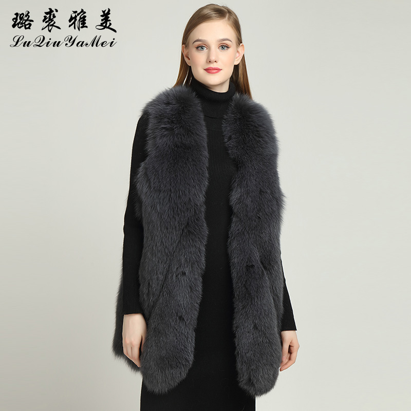 Sleeveless Jackets Real Fox Fur Winter Genuine Fur Fashion Luxury Russian Vests Natural Fur Coats Real Fur Vests for Women