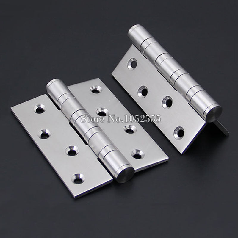 ФОТО Brand New 1Pair=2PCS DOOR HINGES BALL BEARING Butt Internal Stainless steel finish 4Inch*3Inch*3.5mm K150