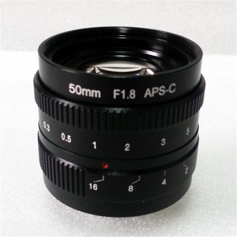 mirrorless 50mm F1.8 C-Mount Lens For APS-C Camera M4/3 FX EOSM N1 P/Q M3 M2 X-E1 X-Pro1 NEX-7 NEX-5 J3 V3 J2 V2 J1 V1 kaxinda metal 35mm f 1 7 lens for m4 3 nex fx eosm n1 p q e1 aps c mirrorless