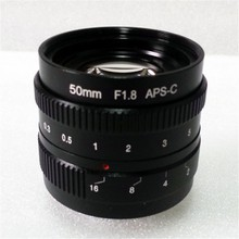 mirrorless 50mm F1.8 C-Mount Lens For APS-C Camera M4/3 FX EOSM N1 P/Q M3 M2 X-E1 X-Pro1 NEX-7 NEX-5 J3 V3 J2 V2 J1 V1