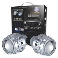 Круговой 2,8 Универсальный G8 ксеноновые проектор фары комплект объектив H1 H7 H4 H11 9004 9007 9005 9006 белого и синего цвета CCFL Угол Глаза