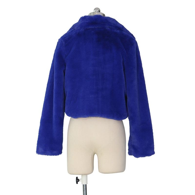 autumn winter faux fur coat short jacket-10