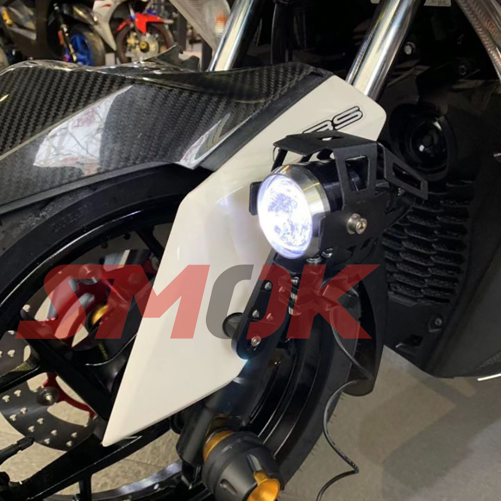 US $18 37 29% OFF|SMOK For Yamaha XMAX 300 NMAX 155 AEROX NVX 155  Motorcycle Accessories CNC Aluminum Alloy Front Fender Spotlights  Bracket-in Covers