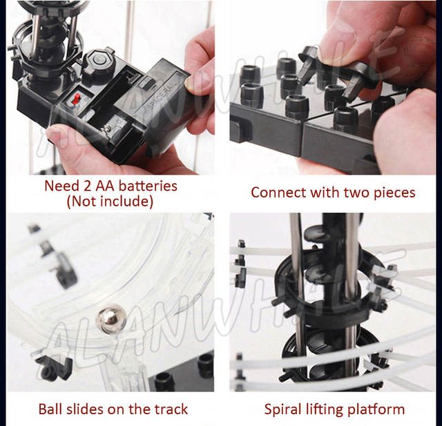 US $89 99 |7000cm Rail High Level 9 Challenge Marble Run Roller Coaster  Electric Elevator Model Building Kit Toys Rolling ball Sculpture-in Blocks
